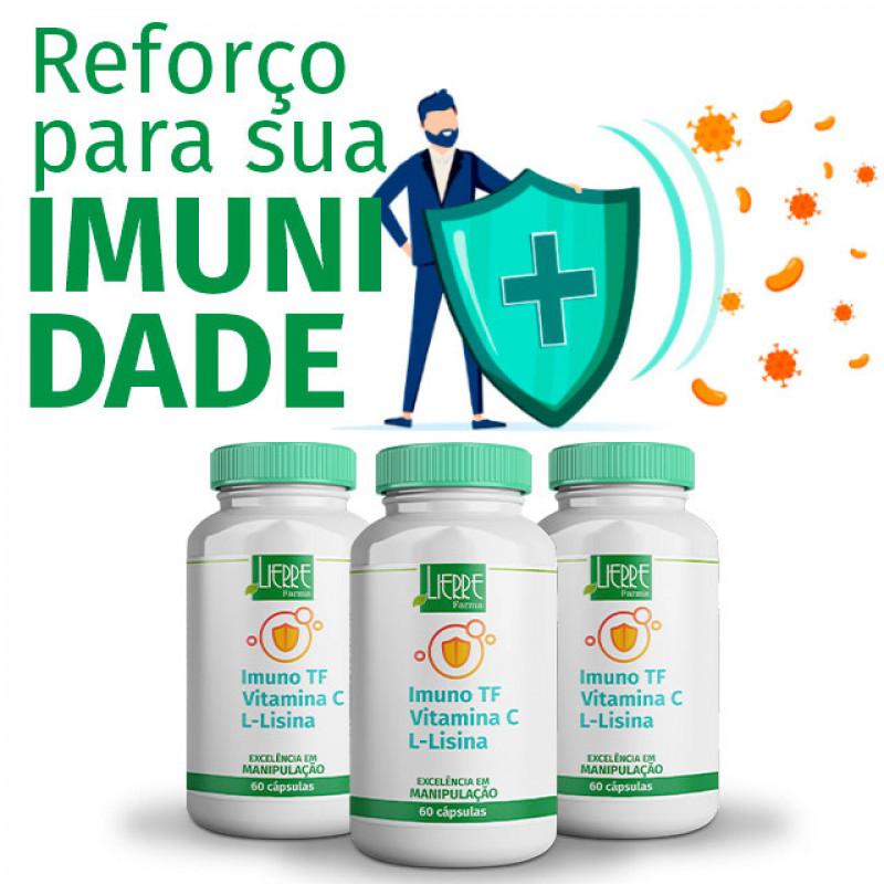 IMUNO TF (Fortalecimento Imunidade) Vitamina C e L-Lisina